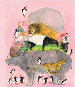 Marije Tolman Fotobehang Jumping Pinguins