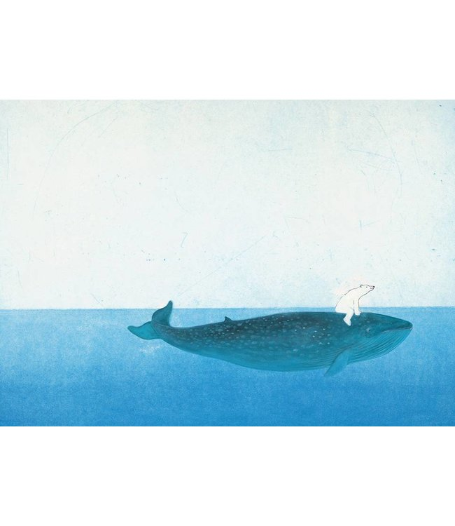 Marije Tolman Fototapete für Kinderzimmer Riding The Whale, 389.6 x 280 cm