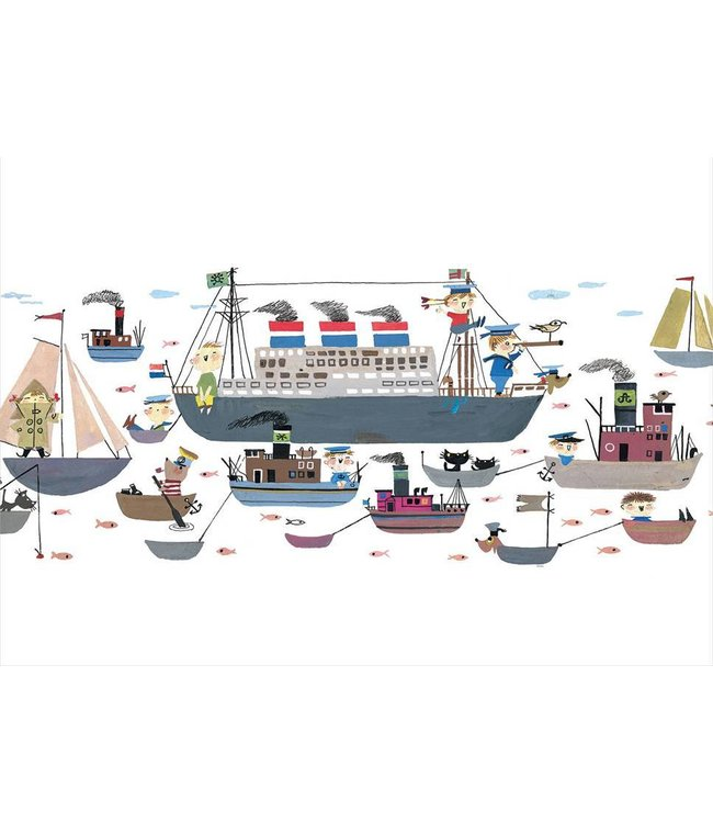 Fiep Westendorp Wall Mural for kids Holland America Line, 389.6 x 280 cm