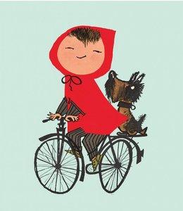 Fotobehang Riding my Bike / Groen
