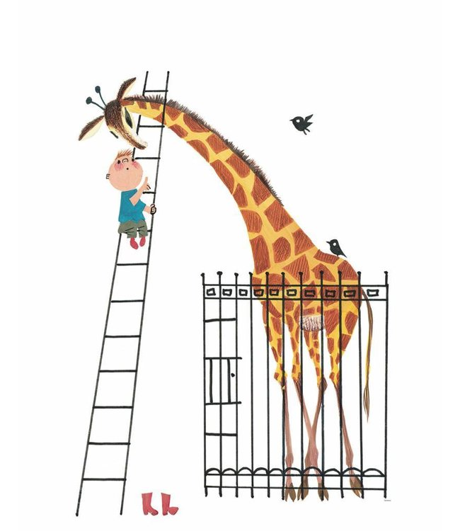 Fiep Westendorp Wall Mural for kids Giant Giraffe, 243.5 x 280 cm