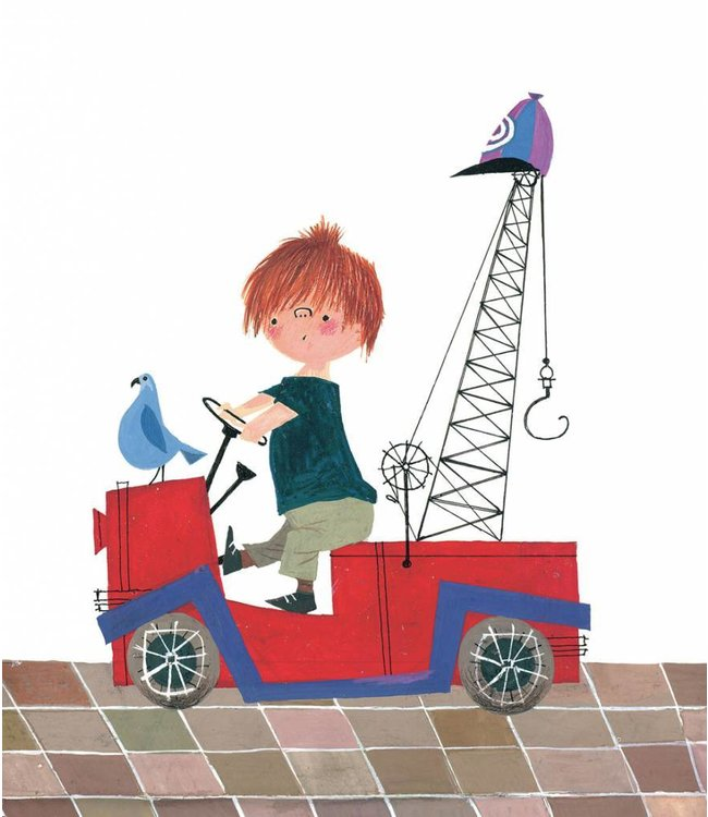 Wall Mural for kids Red Tow Truck, 243.5 x 280 cm