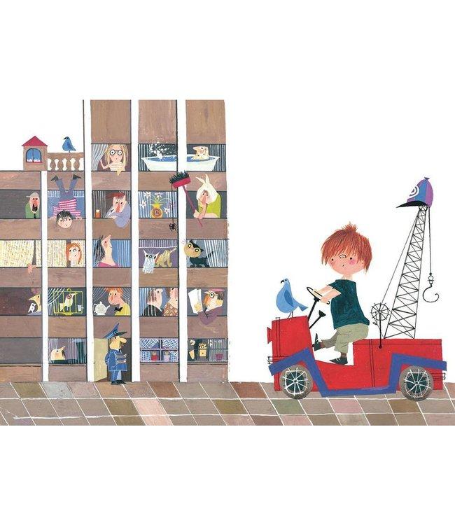 Fiep Westendorp Fototapete für Kinderzimmer Red Tow Truck II, 389.6 x 280 cm