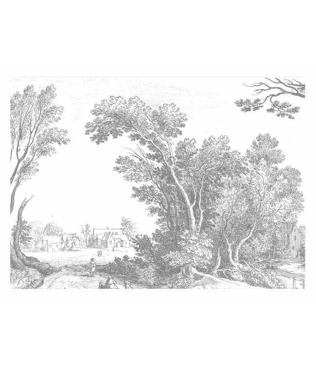 Fototapete Engraved Landscapes, 389.6 x 280 cm