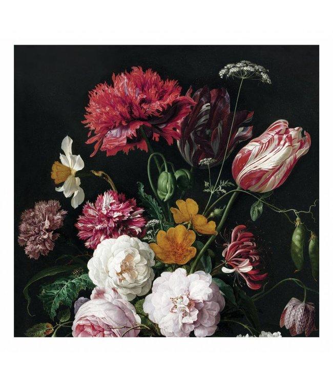 Fotobehang Golden Age Flowers 2, 292.2 x 280 cm