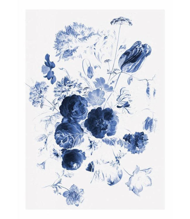 Fototapete Royal Blue Flowers 1, 194.8 x 280 cm