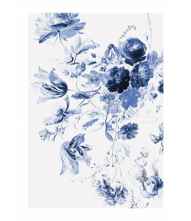 Wall Mural Royal Blue Flowers 3, 194.8 x 280 cm