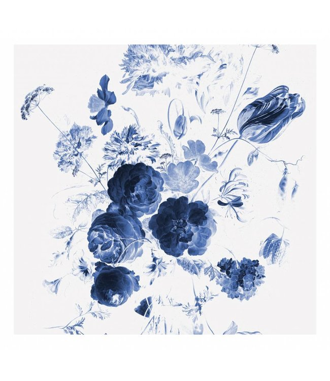 Wall Mural Royal Blue Flowers 1, 292.2 x 280 cm