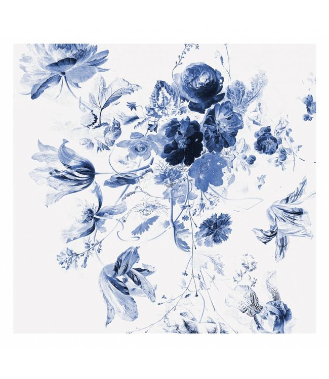 Fototapete Royal Blue Flowers 3, 292.2 x 280 cm