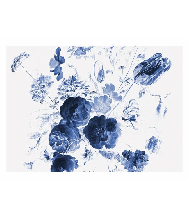 Fototapete Royal Blue Flowers 1, 389.6 x 280 cm