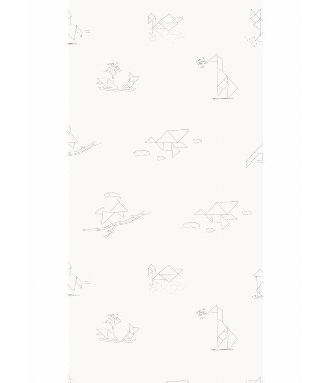 Martijn van der Linden Wallpaper for kids Tangram Animal Sketches