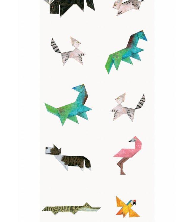 Martijn van der Linden Tapete für Kinderzimmer Tangram Animals