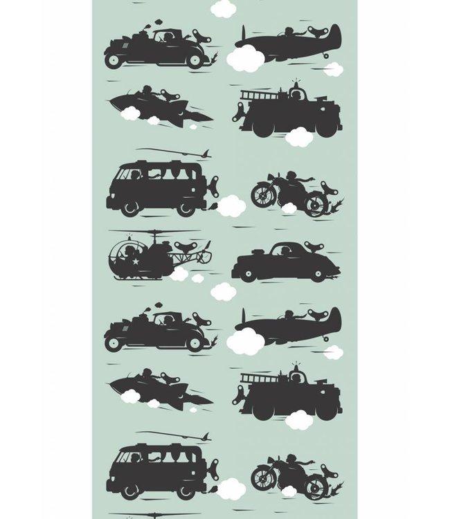 Wallpaper for kids Vehicles, Green