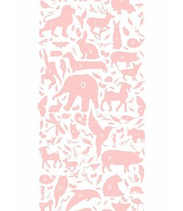 Behang ABC Animals, Roze