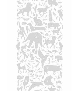 Behang ABC Animals, Lichtgrijs
