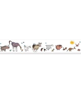 Behangrand Animal Parade