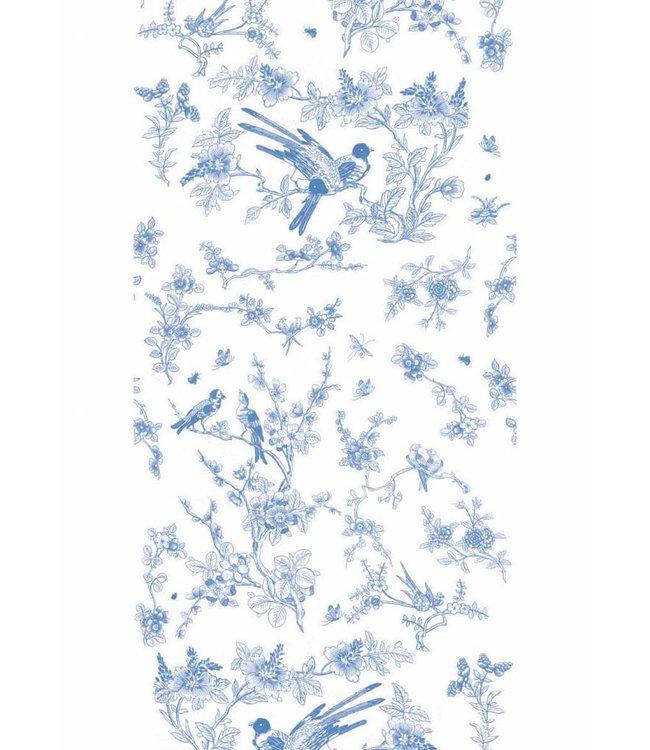 Tapete Birds & Blossom, Blau