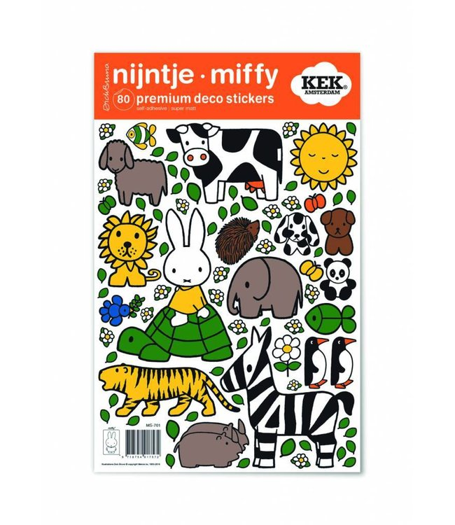 Dick Bruna Miffy wall stickers Miffy riding on turtle, 21 x 33 cm
