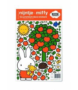 Dick Bruna Miffy Wandtattoos Miffy apple tree