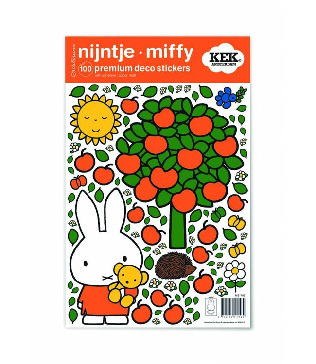 Dick Bruna Miffy Wandtattoos Miffy apple tree, 21 x 33 cm