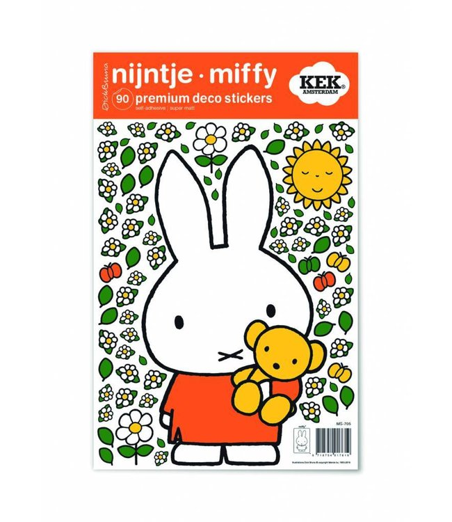 Dick Bruna Miffy wall stickers Miffy with little bear, 21 x 33 cm