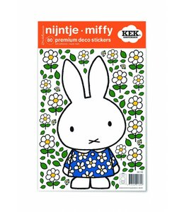 Dick Bruna Miffy Wandtattoos Miffy with Blue flower dress