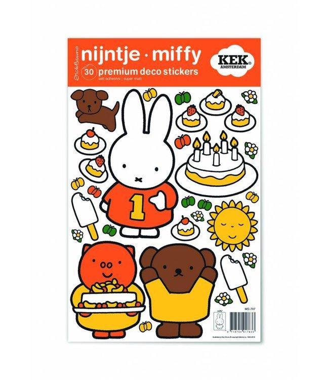 Miffy wall stickers Miffy birthday party, 21 x 33 cm