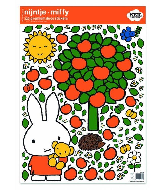 Dick Bruna Miffy wall stickers Miffy apple tree, 42 x 59 cm