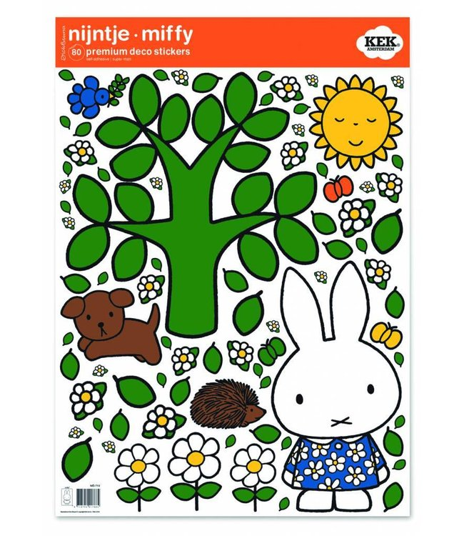 Dick Bruna Nijntje muurstickers Big tree, 42 x 59 cm