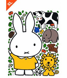 Dick Bruna Miffy Wandtattoos Miffy with Gelb dress XL