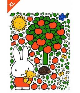 Dick Bruna Miffy Wandtattoos Miffy apple tree XL