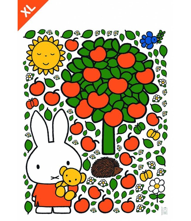 Dick Bruna Miffy wall stickers Miffy apple tree XL, 94 x 120 cm