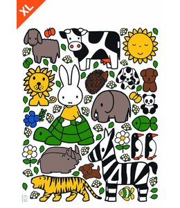 Dick Bruna Miffy Wandtattoos Miffy with animals XL