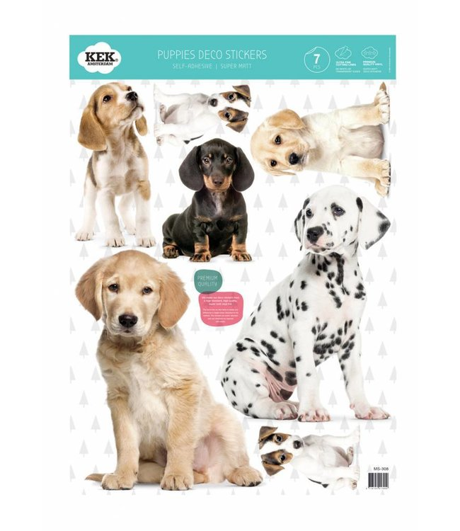 Set wall stickers Puppies, 42 x 59 cm