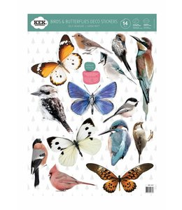 Birds & Butterflies (14 Wall Stickers)