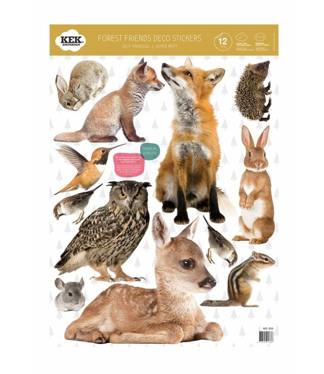 Set wall stickers Forest Friends, 42 x 59 cm