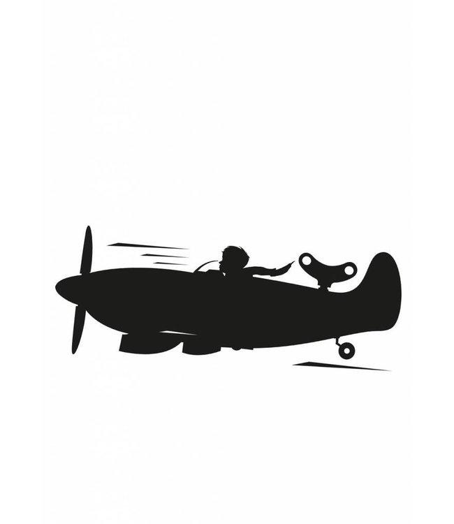 Chalkboard sticker Toys for Boys Airplane, M: 98 x 40 cm