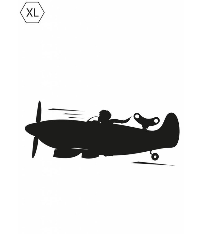Chalkboard sticker  for Boys Airplane, XL: 130 x 48 cm