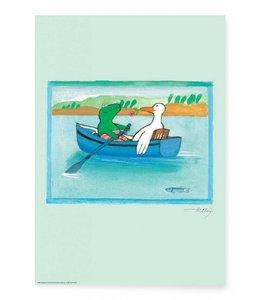 Max Velthuijs Poster Frog Boat