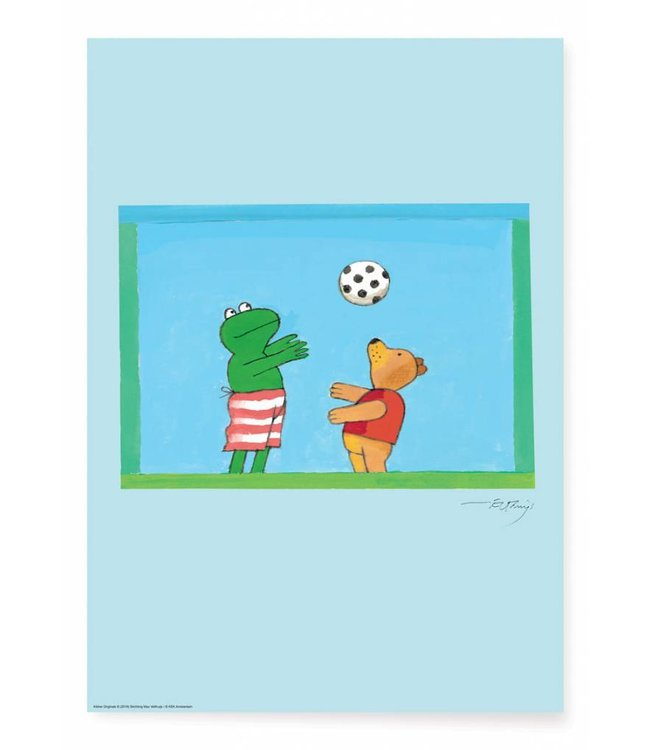 Max Velthuijs Poster Frog Soccer, 42 x 59.4 cm