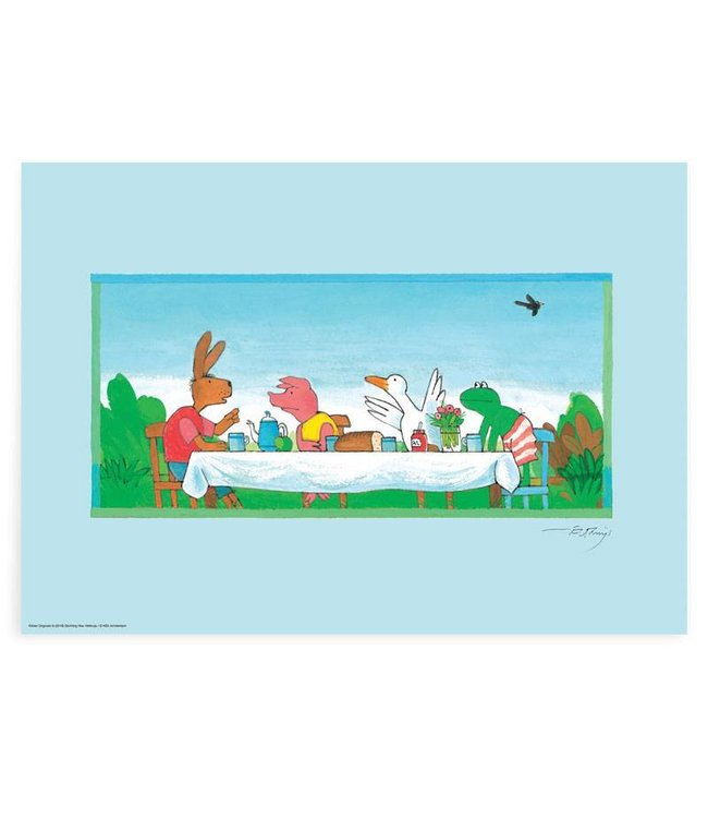 Poster Frog Lunch with Frog, 59.4 x 42 cm