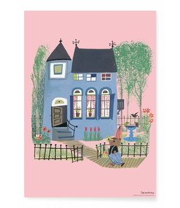Poster Bear with Blue house