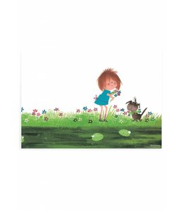 Fiep Westendorp Poster Picking Flowers