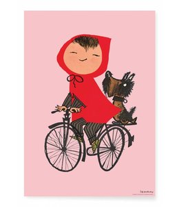 Fiep Westendorp Poster Riding my Bike, Rosa