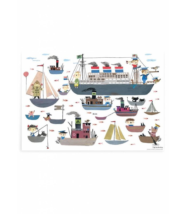 Fiep Westendorp Poster Holland America Line, 59.4 x 42 cm