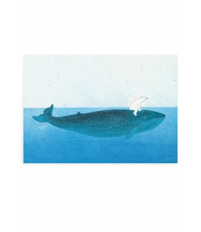 Poster Riding the Whale, 59.4 x 42 cm