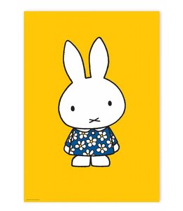 Dick Bruna Poster Miffy with blue flower dress