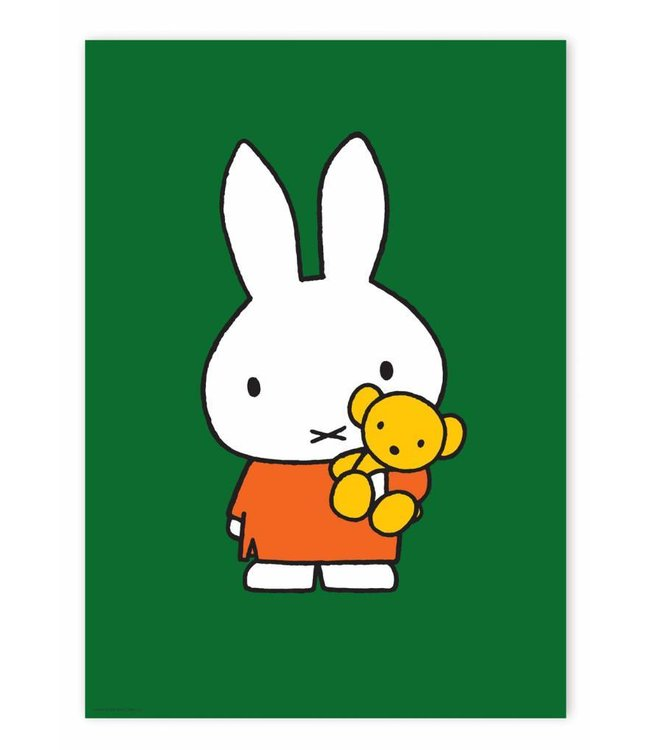 Dick Bruna Poster Miffy with little bear, 42 x 59.4 cm