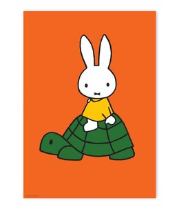 Poster Miffy riding on turtle