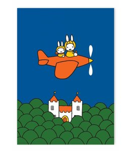 Dick Bruna Poster Miffy flying